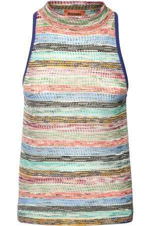 Missoni Striped Viscose & Wool Knit Tank Top