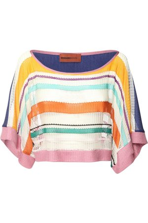 Missoni Striped Viscose Knit Crop Top