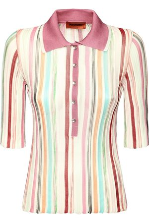 Missoni Striped Viscose & Cotton Knit Polo