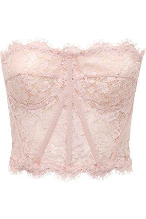 Dolce & Gabbana Lace Sheer Bustier Crop Top
