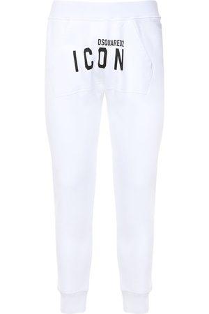 DSQUARED2 Print Icon Logo Cotton Jersey Sweatpants