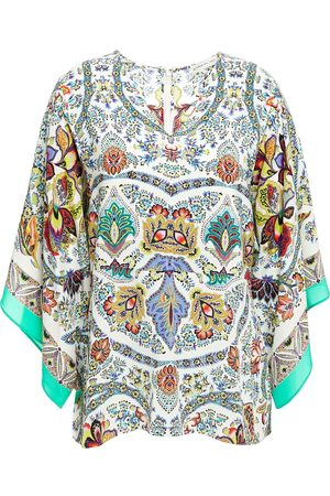 Etro Women Blouses - Woman Printed Silk Crepe De Chine Blouse Size 44