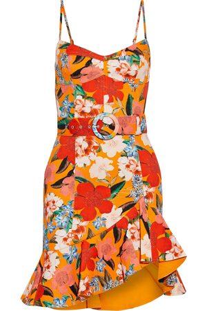 Nicholas Women Party Dresses - Woman Arielle Ruffled Floral-print Cotton-blend Twill Mini Dress Bright Size 0