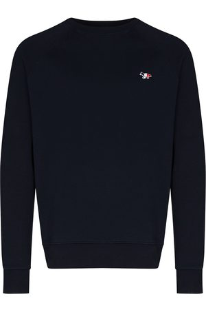 Maison Kitsuné Flag fox-patch crew-neck sweatshirt