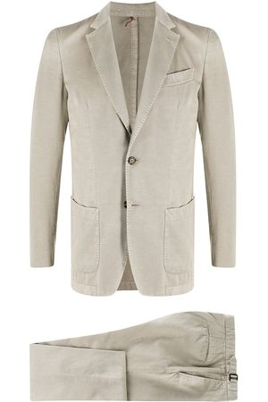 DELL'OGLIO Fitted two-piece suit - Neutrals