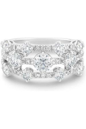 De Beers Jewellers 18kt white gold Arpeggia diamond three row ring