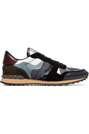 VALENTINO GARAVANI Rockrunner leather sneakers - Grey