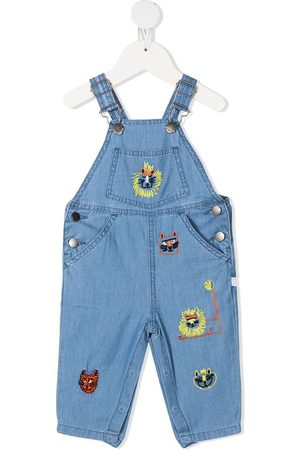 Stella McCartney Embroidered animals denim dungarees