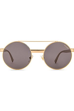 VERSACE Metal Round Sunglasses in Metallic