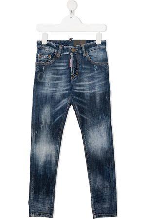 Dsquared2 Stonewashed straight-leg jeans