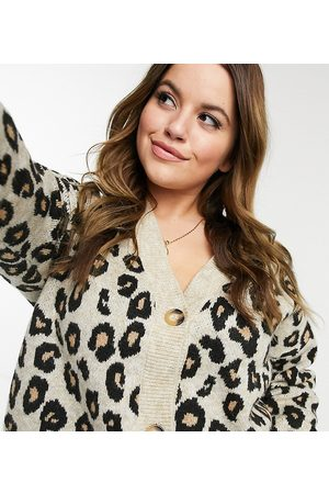 New Look Cardigans - New Look Curve button through animal print cardigan in pattern
