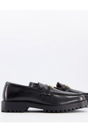 WALK LONDON Sean chunky bar loafers in leather