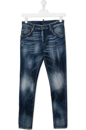 Dsquared2 TEEN faded-effect straight-leg jeans