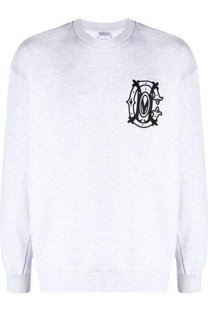 MARCELO BURLON Logo embroidery sweatshirt - Grey