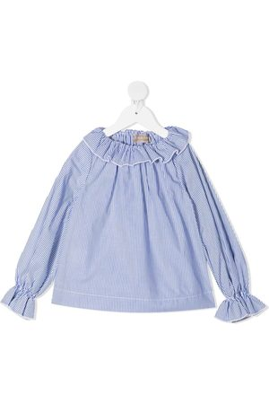 LA STUPENDERIA Stripe-print ruffle-trim blouse
