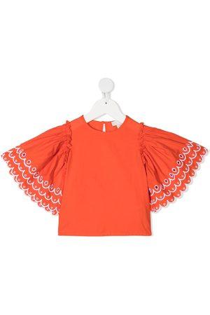 Stella McCartney Scalloped bell sleeves blouse
