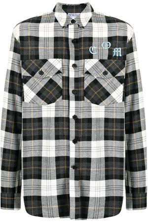 MARCELO BURLON Checked cotton shirt