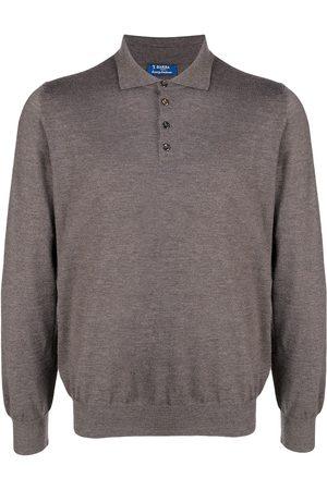BARBA Long-sleeve cashmere polo shirt