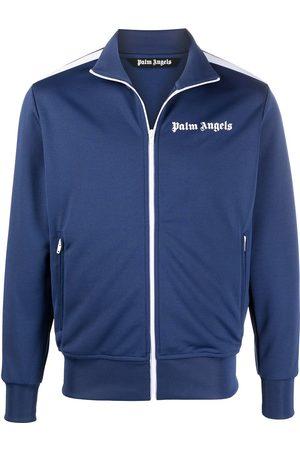Palm Angels Striped sleeve track jacket