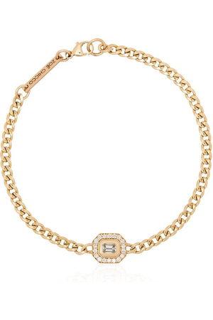Zoe Chicco 14kt emerald cut diamond bracelet