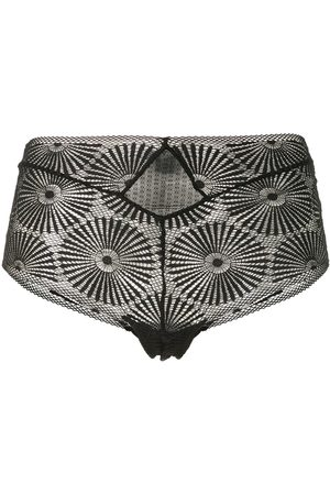 Kiki de Montparnasse Lace-pattern high-rise briefs