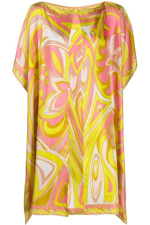 Emilio Pucci Abstract-print silk cover-up