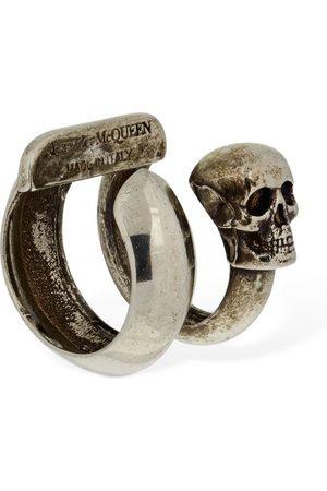 Alexander McQueen Men Earrings - Double Wrap Skull Mono Ear Cuff