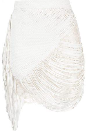 FAITH CONNEXION Fringed braided skirt