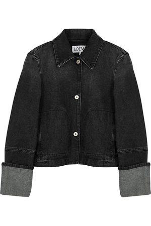 Loewe Cropped faded denim jacket