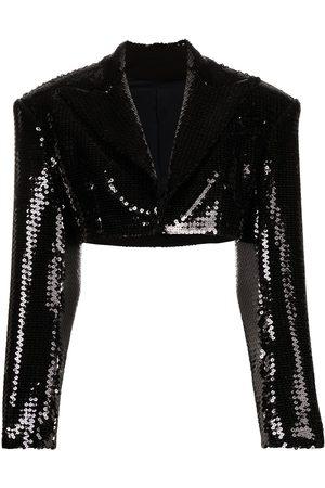 Balmain Cropped sequinned jacket