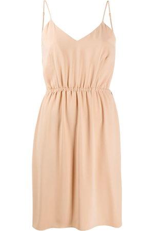 MM6 MAISON MARGIELA Women Sleeveless Dresses - V-neck sleeveless dress - Neutrals