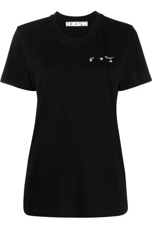 OFF-WHITE Women T-shirts - Logo-print crew-neck T-shirt