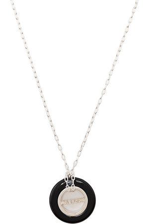 AMBUSH Necklaces - Engraved logo round pendant necklace