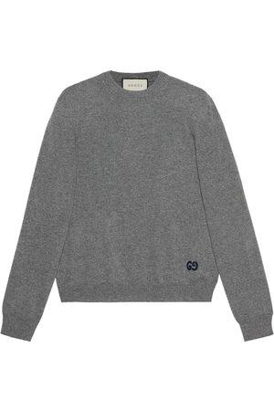 Gucci Logo-embroidered cashmere jumper - Grey