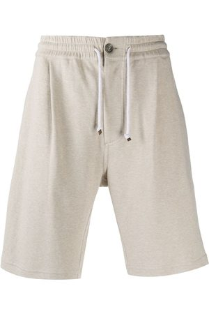 Brunello Cucinelli Drawstring track shorts - Neutrals