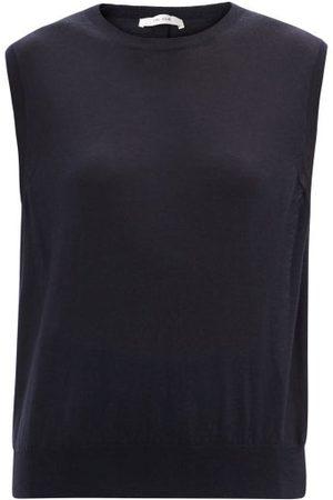 The Row Balham Sleeveless Cashmere Sweater - Womens - Navy