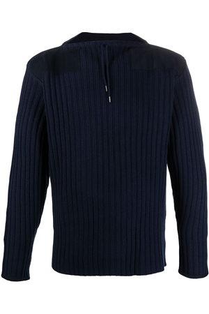 N.PEAL Drawstring-neck ribbed sweater