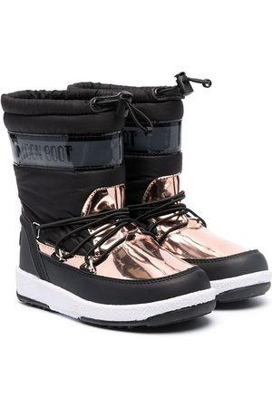 Moon Boot Rain Boots - Metallic-panel snow boots