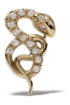 Feidt Paris 18kt yellow Bo Serpent diamond stud