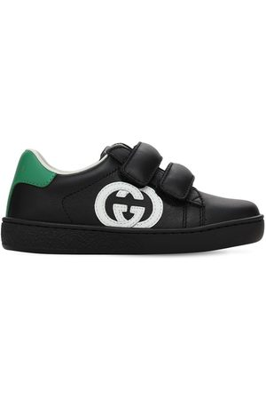 Gucci Girls Sneakers - Leather Straps Sneakers