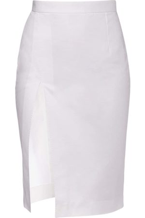 Dsquared2 Pencil Cotton Drill Knee Length Skirt