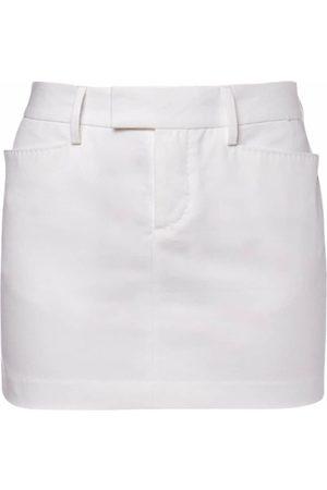 Dsquared2 Cotton Drill Mini Skirt W/ Front Pockets