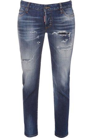 Dsquared2 Jennifer Crop Stretch Cotton Jeans