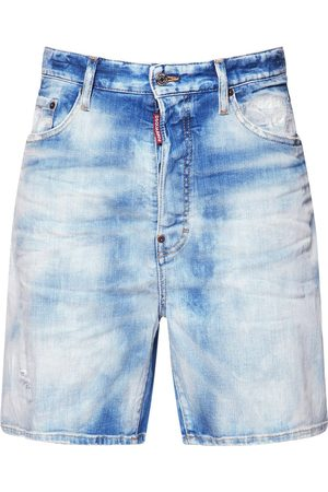 Dsquared2 33cm Relaxed Cotton Denim Shorts