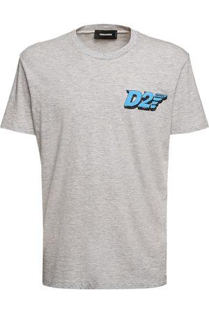 Dsquared2 D2 Logo Print Cotton Viscose T-shirt