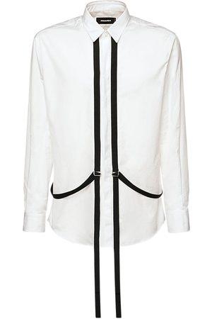 Dsquared2 Relax Dan Cotton Poplin Shirt W/ Harness