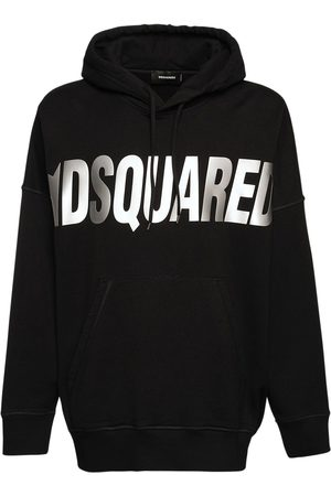 Dsquared2 Oversize Refractive Logo Jersey Hoodie