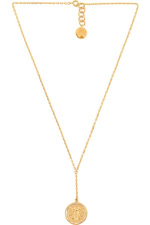 Amber Sceats Claire Necklace in Metallic .