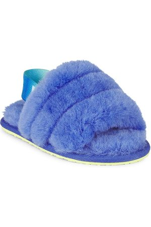 UGG Baby's, Little Girl's & Girl's Fluffy Lamb Fur Slingback Slide Sandals - - Size 10 (Toddler)