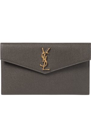 Saint Laurent Uptown Medium leather clutch